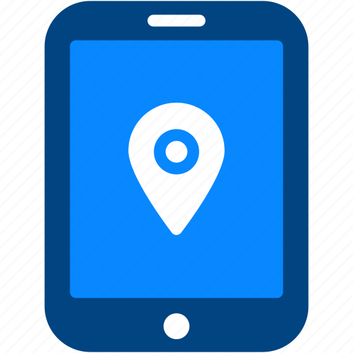 ipad, location, map, navigation, pin, place, tablet icon