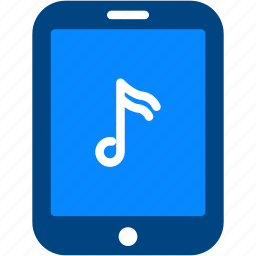 ipad, music, note, play, tablet icon
