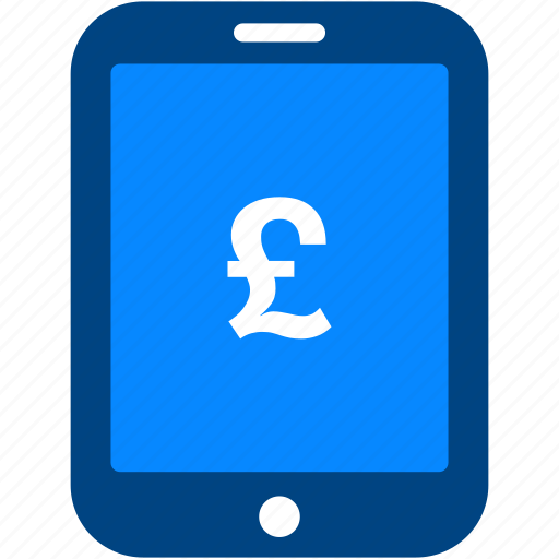 currency, financial, money, pound, shopping, tablet icon