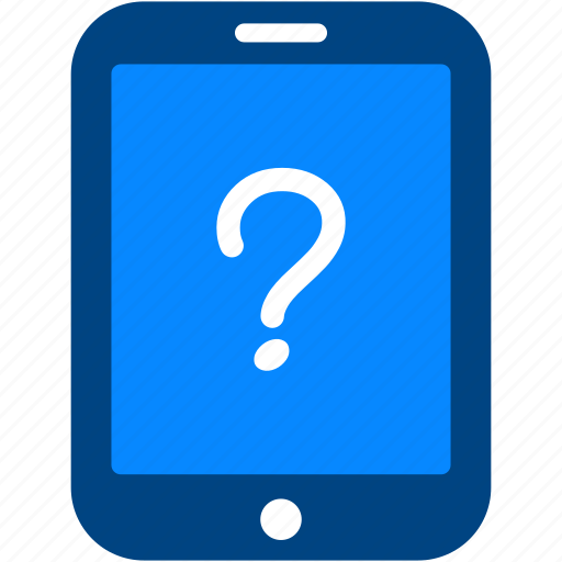 help, info, information, mark, question, support, tablet icon