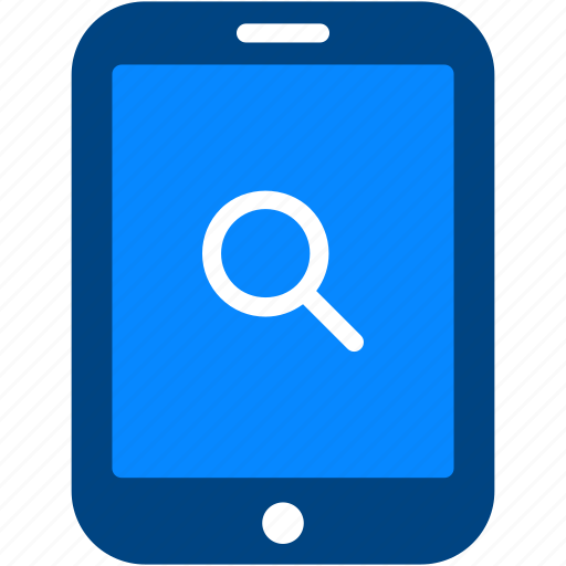 explore, find, magnifying, optimization, search, tablet, view icon