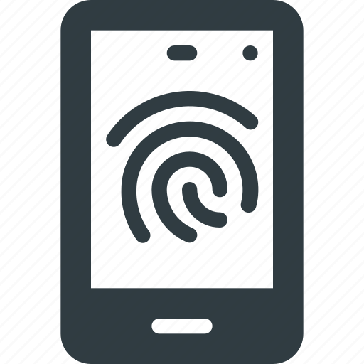 finger, id, mobile, phone, print, smartphone, touch icon