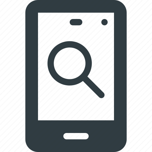 Mobile, phone, search, smartphone, smart icon
