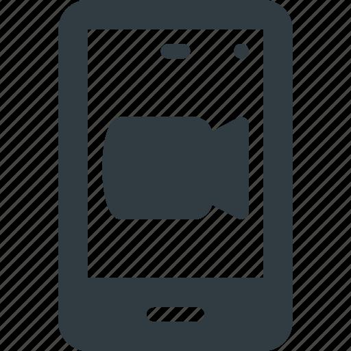 Smartphone, mobile, phone, camera, video, call, smart icon