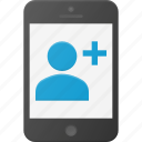 add, contact, mobile, phone, smart, smartphone icon