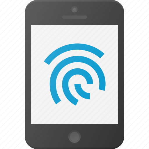 finger, mobile, phone, print, smart, smartphone, touch icon