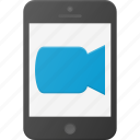call, camera, mobile, phone, smart, smartphone, video icon