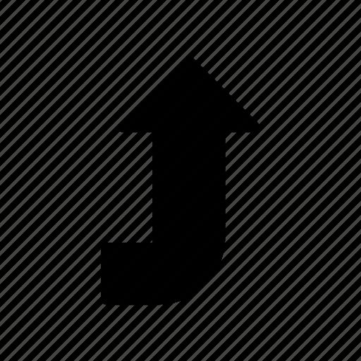 chevron, curve, direction, pointer, up icon