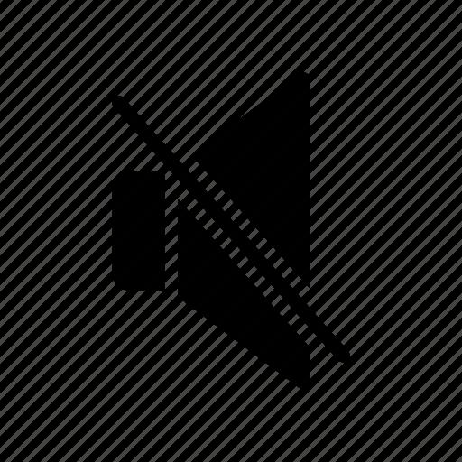 mute, remove, silent, soundoff, speaker icon