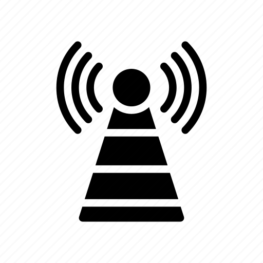 antenna, broadcast, signal, tower, wireless icon