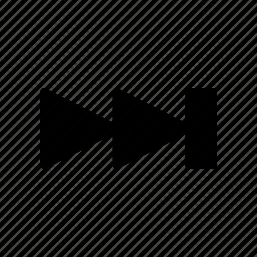 chevron, forward, next, player, pointer icon