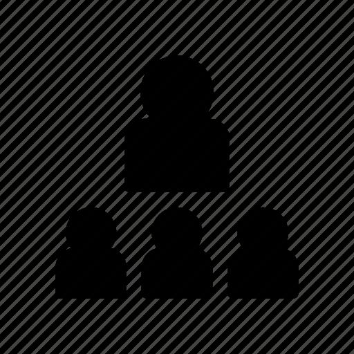 employee, group, organization, team, user icon