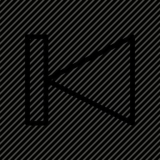 backward, chevron, player, previous, rewind icon