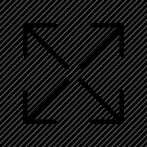display, expand, fullscreen, maximize, resize icon