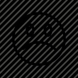 emoji, face, react, sad, smiley icon