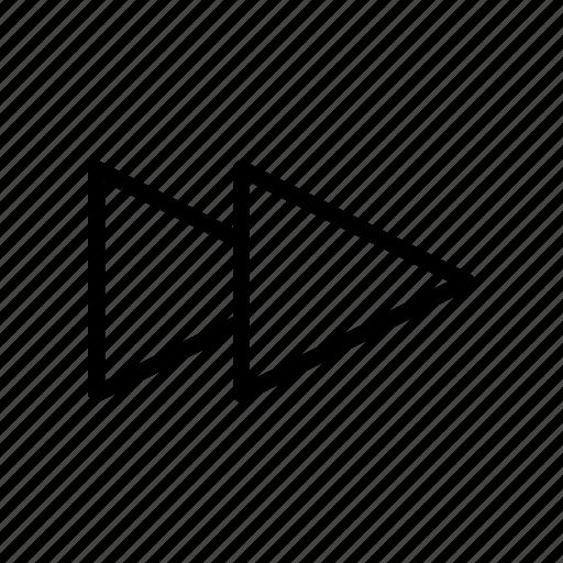 chevron, forward, music, player, rewind icon