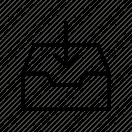 Cabinet, drawer, furniture, inbox, interior icon - Download on Iconfinder