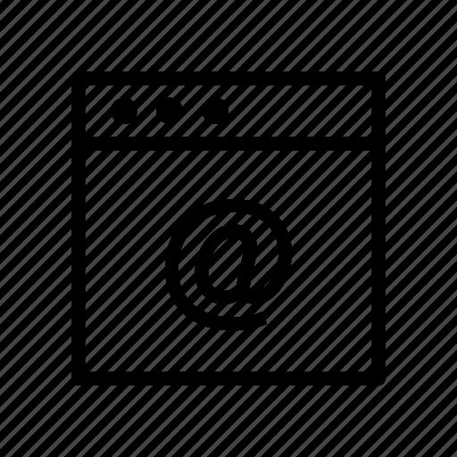 internet, mail, online, webpage, window icon
