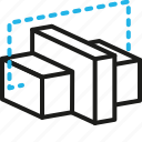 apps, isometric, blocks, web icon