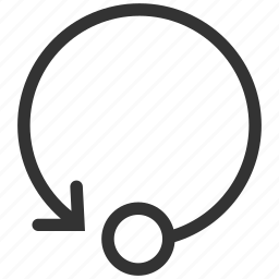 ccw, counterclockwise, gesture, loop, rewind, roll, rotate icon