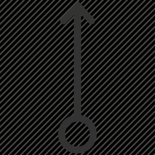 arrow, gesture, slide, swipe, top, up, vertical icon