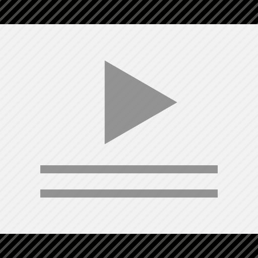 description, mockup, play, playlist, web, wireframes icon