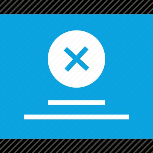 delete, error, mockup, web, wireframes, x icon