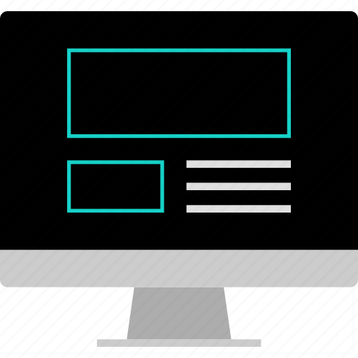 computer, layout, website, wireframe icon