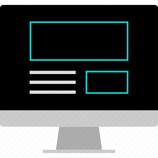 computer, gallery, layout, screen, website, wireframe icon
