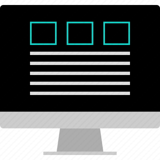 grid, layout, paragraph, website, wireframe icon