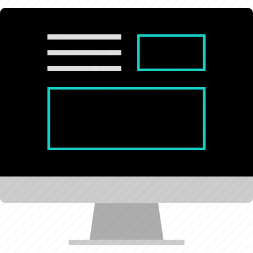 layout, online, web, website, wireframe icon