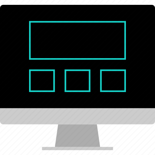 blog, layout, screen, website, wireframe icon