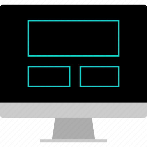 computer, layout, screen, website, wireframe icon