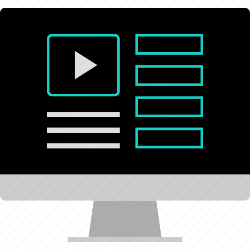layout, play, website, wireframe, youtube icon