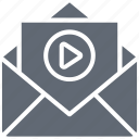 email, envelop, letter, media message, video message