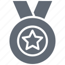 achievement, badge, medal, quality, reward icon