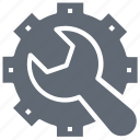 cog, preferences, repair tool, settings, wrench icon
