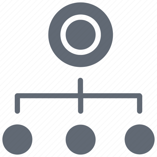 hierarchical structure, hierarchy, network, sharing network, sitemap icon