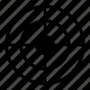 aim, crosshair, goal, objective icon