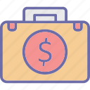 currency bag, dollar bag, finance, money icon