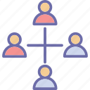 collaboration, group, network, organization structure icon