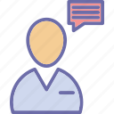 chat, chatting, client chat, customer representative icon