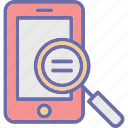 magnifier, mobile scanning, mobile ui, search mobile icon