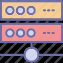 database, network server, server connection, server storage icon