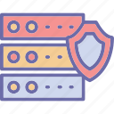 data protection, network security, secure database, server security icon