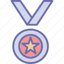 achievement, medal, position medal, prize icon