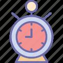alarm clock, clock, timekeeper, timepiece icon