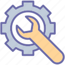 cog, preferences, repair tool icon