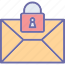 email, email security, letter, privacy icon