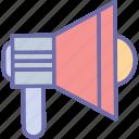 announcement, bullhorn, loud hailer, megaphone icon